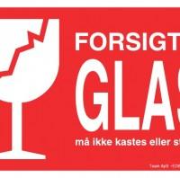 FORSIGTIG GLAS