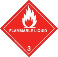 Flammable Liquid Negativ