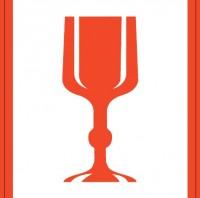 Glassymbol, rød