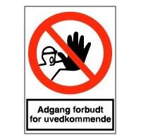 Adgang forbudt for uvedkommende (plast)