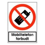 Mobiltelefon må ikke medtages (plast)