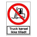 Kørende transport forbudt (plast)