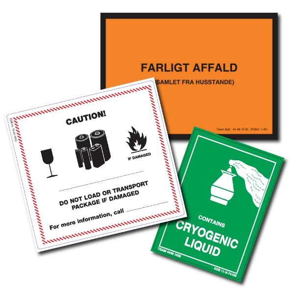 Farlig gods symbolmærkater